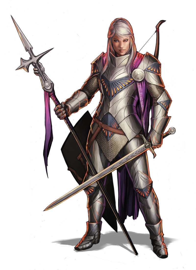 Name: reron trec race: half-elf age: 24 alignment: chaotic good class: fighter/sorcerer background: level: 1 f/1 s