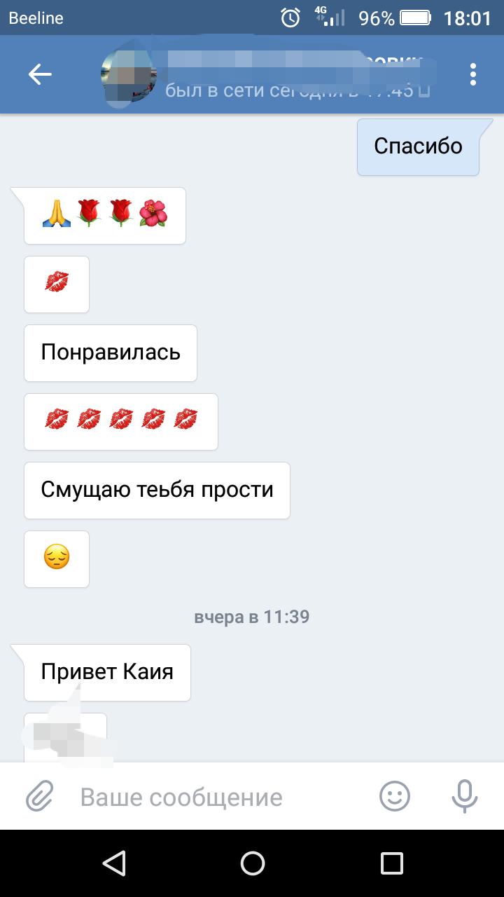 Примеры общения с девушкой в сети