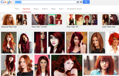 Рыжие волосы какое платье