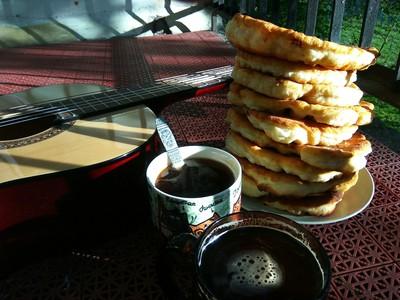 Лепешка на кефире - рецепт пошаговый с фото