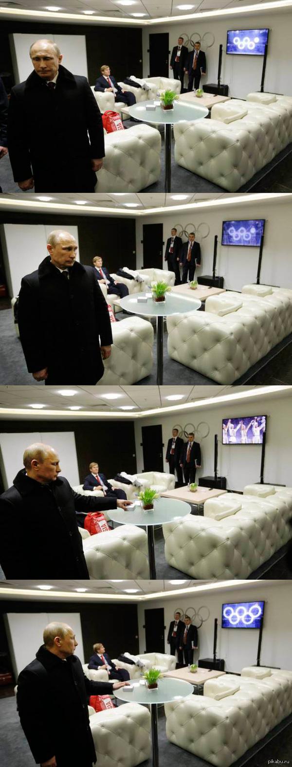 Когда Путин не смотрит Серия фотографий от Дэвида Голдмена.  upd: Внимание на телевизор!