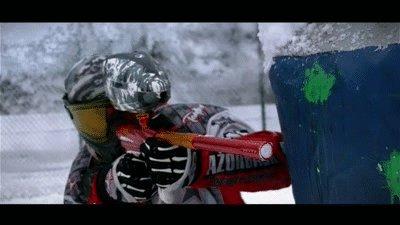 Зимний пейнтболл