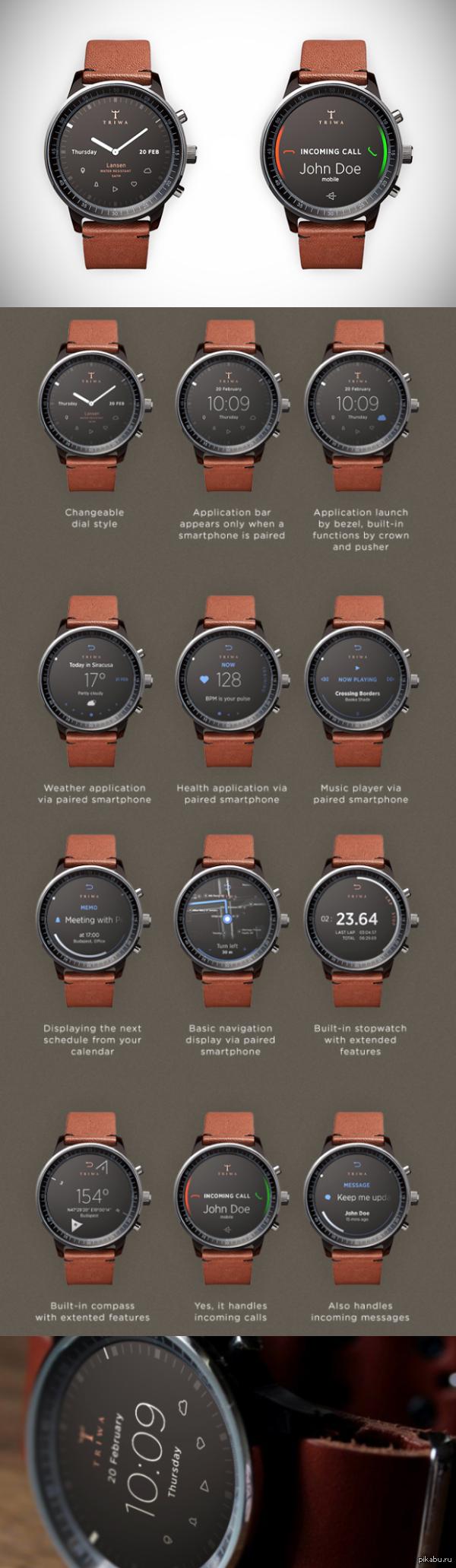 Лучший концепт умных часов, что я видел. Концепт от венгерского дизайнера-фрилансера Gábor Balogh.