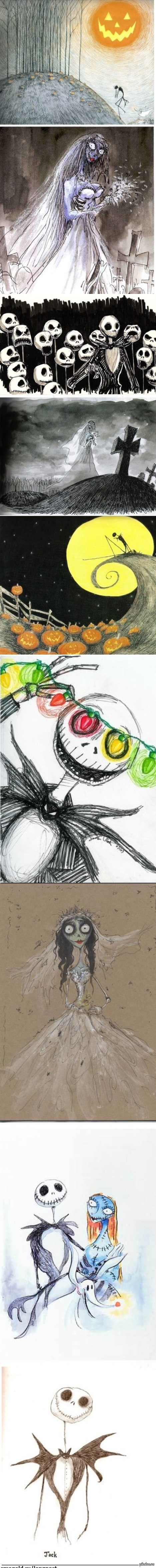 Рисунки Тима Бёртона