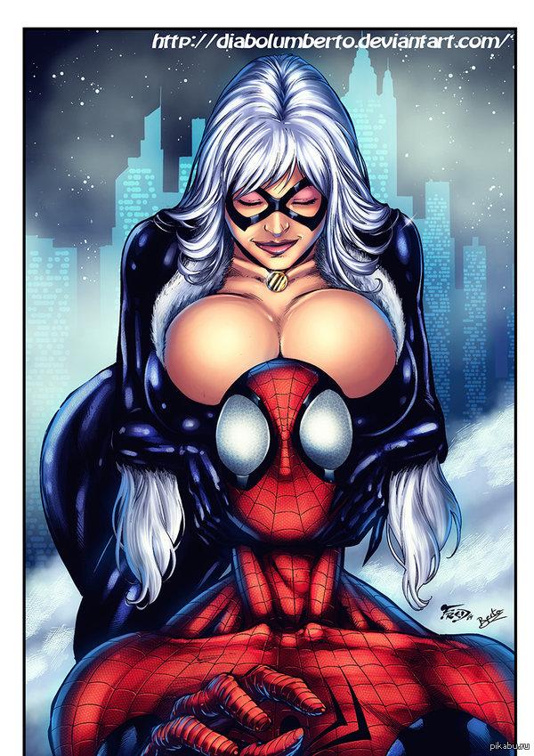 black cat spiderman - 600×849