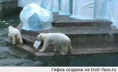 """Мужик, у тебя канистра есть? -Нету, -На мужик канистру Продолжая тему щедрых белых медведей! <a href=""""http://pikabu.ru/story/muzhik_u_tebya_sinyaya_kryishka_est_netu_na_muzhik_sinyuyu_kryishku_2173544"""">http://pikabu.ru/story/_2173544</a>"""