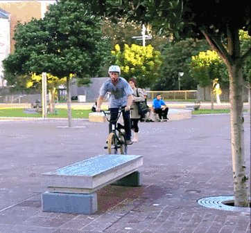 Сальто на велосипеде Точнее, с велосипеда