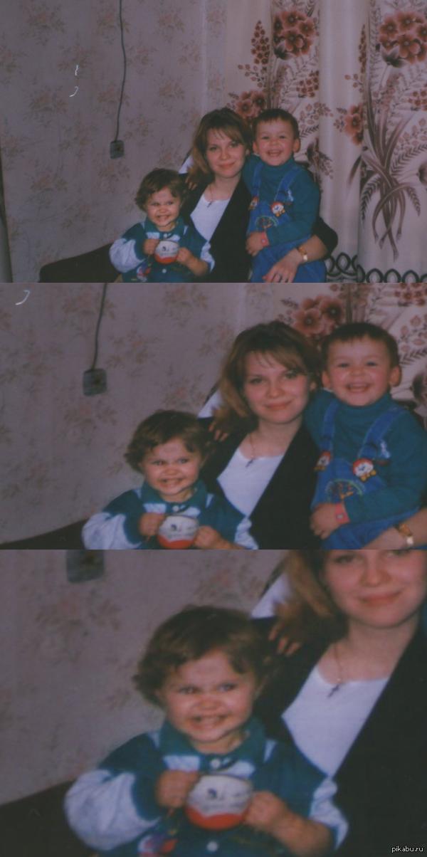 Кажется моя сестра еще в детстве что то замышляла))) или вселился демон???
