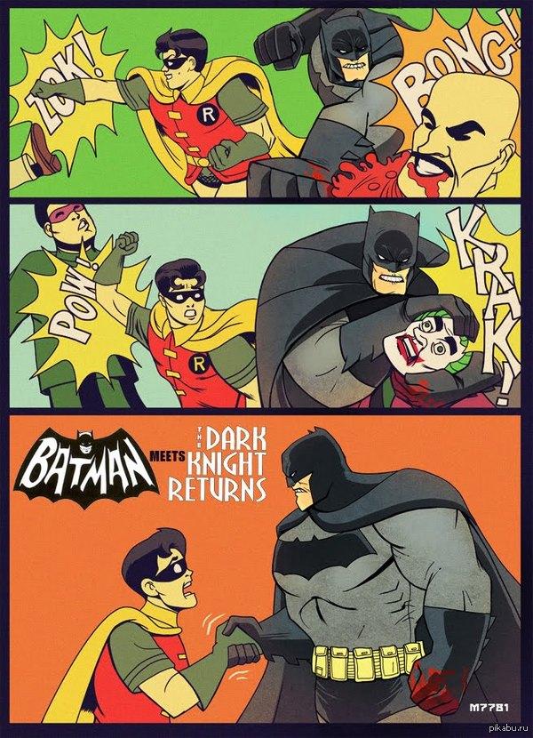 """""""Бэтмен"""" встpечает """"Возвращение Темного Рыцаря"""""""