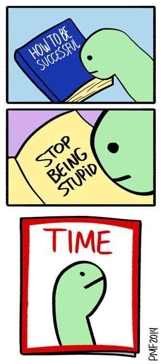 """Простой совет. Перевод:  Книга """"Как быть успешным""""  - """"Перестань тупить"""""""