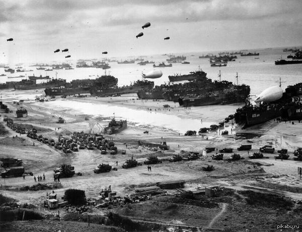Открытие Второго фронта в Европе. 6 июня 1944 года Большое фото