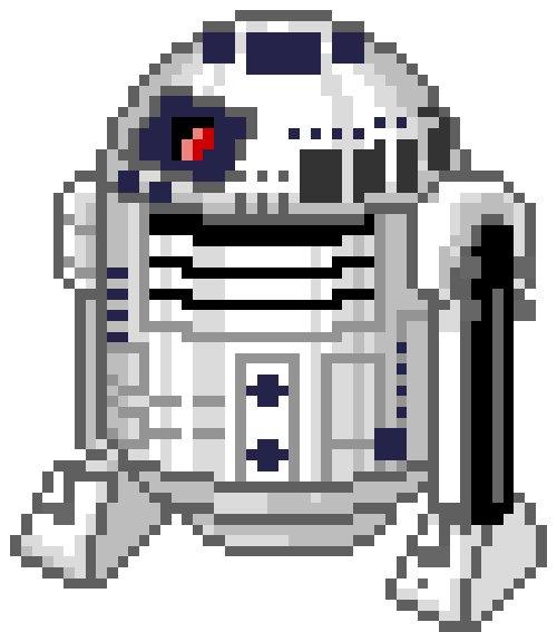 Пиксельный R2-D2
