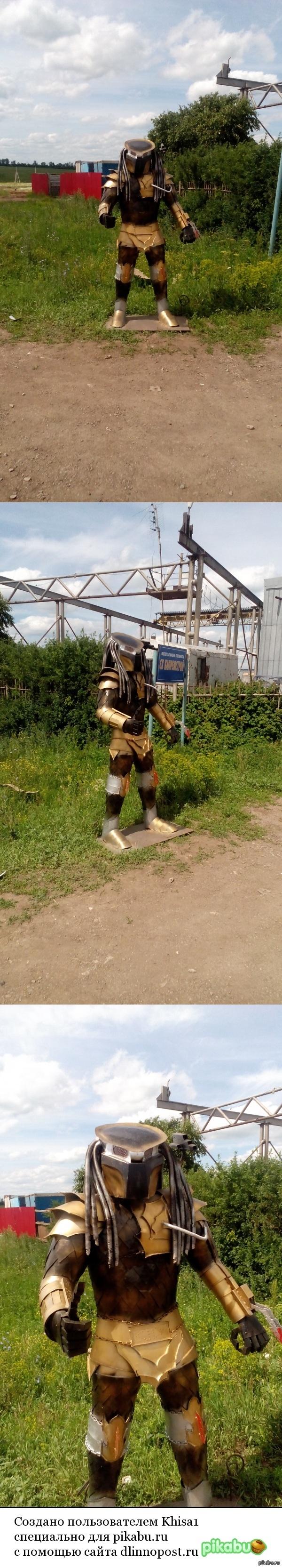 Хищник сфотографировал при въезде в пгт Актюба
