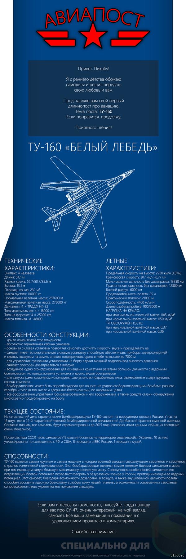 Авиапост #1: ТУ-160 Первый длиннопост, так что сильно не бейте. :)