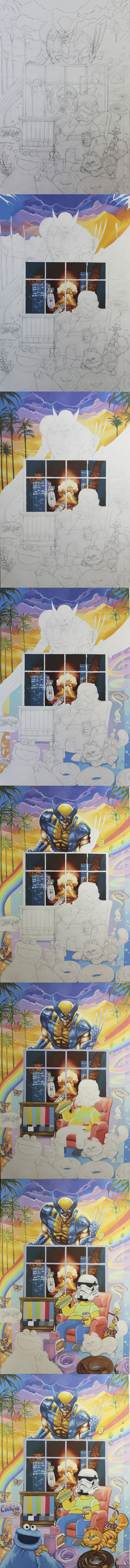 Попросили нарисовать нескольких персонажей