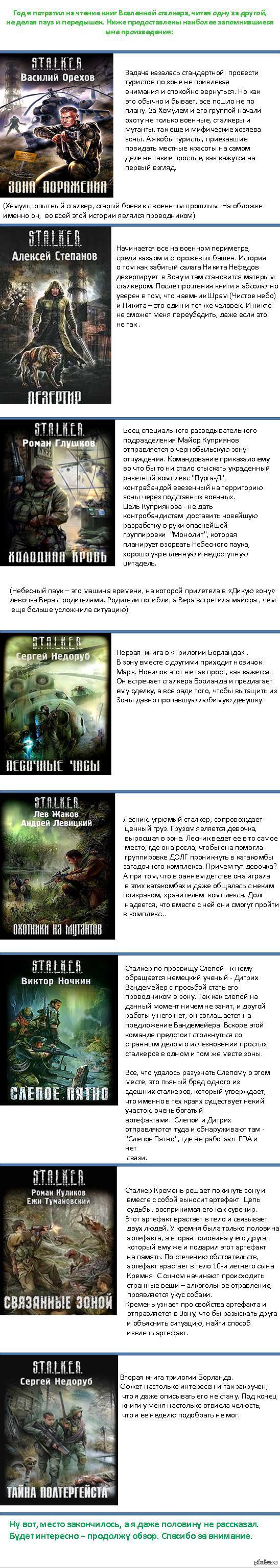 Книги вселенной Сталкера. Обзор.