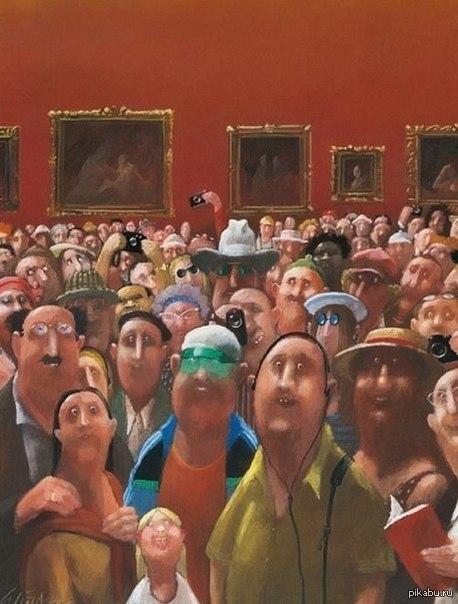 """Картина """"Из жизни Моны Лизы"""" от художника Gerhard Gluck"""