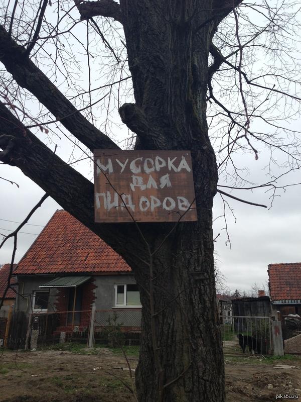 Мусорка не для всех)) Необычная мусорка в Калининграде.