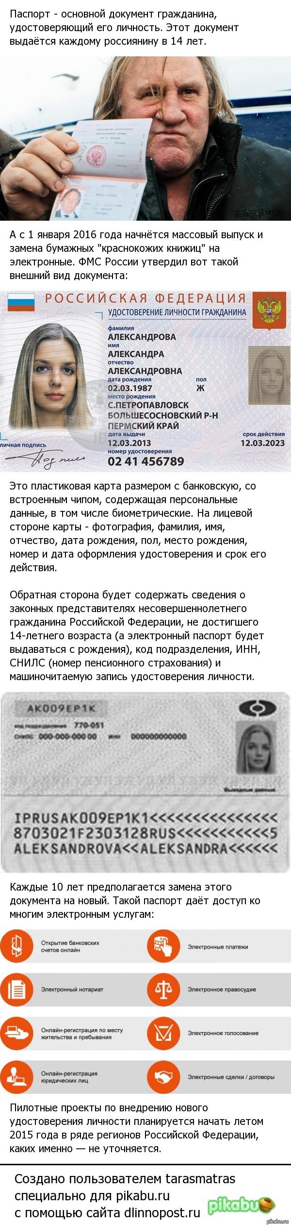 Новый паспорт гражданина России.