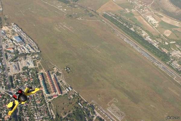 "1100 метров. Мой первый прыжок. в ответ на пост <a href=""http://pikabu.ru/story/350_metrov_vverkh__kto_vyishe_2641733"">http://pikabu.ru/story/_2641733</a>"