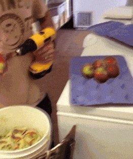 Супер быстрая чистка яблук