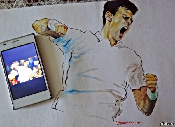 Новак Джокович! Первая ракетка мира и просто шикарный теннисист. Расскажи о своих кумирах тенниса