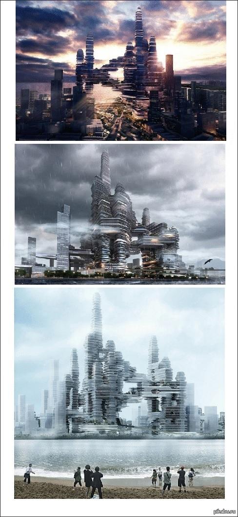 Здание будущего.. В Шеньжене (Китай) планируют построить высотный деловой центр в форме облака.   http://chinababe.ru/science/2014/09/17/cloud-citizen/