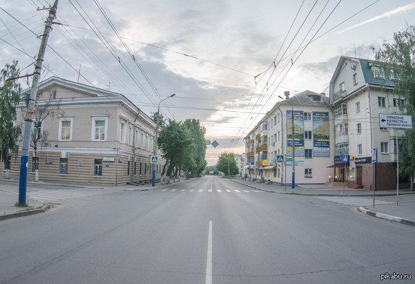 Эта дорога утром выглядит гораздо лучше чем днём :) Г. Орёл