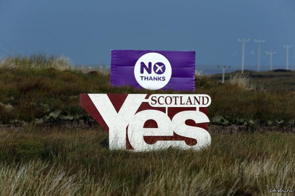 """Референдум. Сегодня я проголосовал за """"Yes"""". Подсчитают голоса уже завтра. А мой голос.. просто любопытно что будет. Уехать я всегда смогу."""