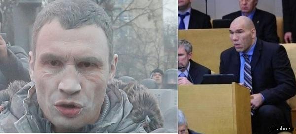 """Валуев и Кличко сойдутся в политической схватке на канале """"Россия 1"""" (тупой тупее тупого)!"""