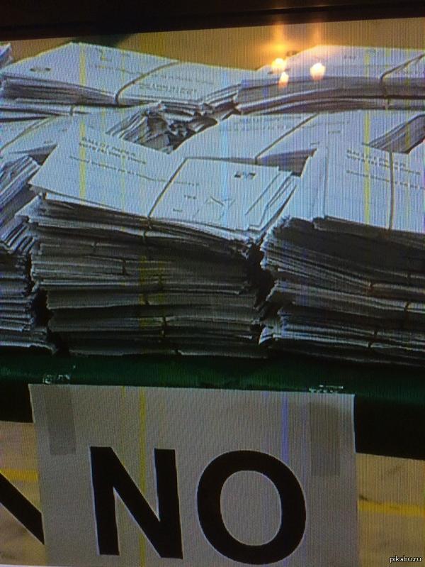 Результаты референдума в Шотландии: Отчетливо видна анкета с ЗА в разделе НЕТ :-) Ну и где же демократия?