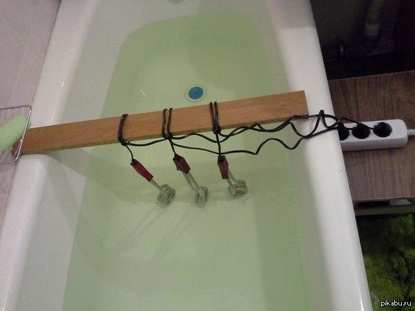 Ванная у кличко Чтобы холодная вода превратилась в горячую, ее нужно подогреть