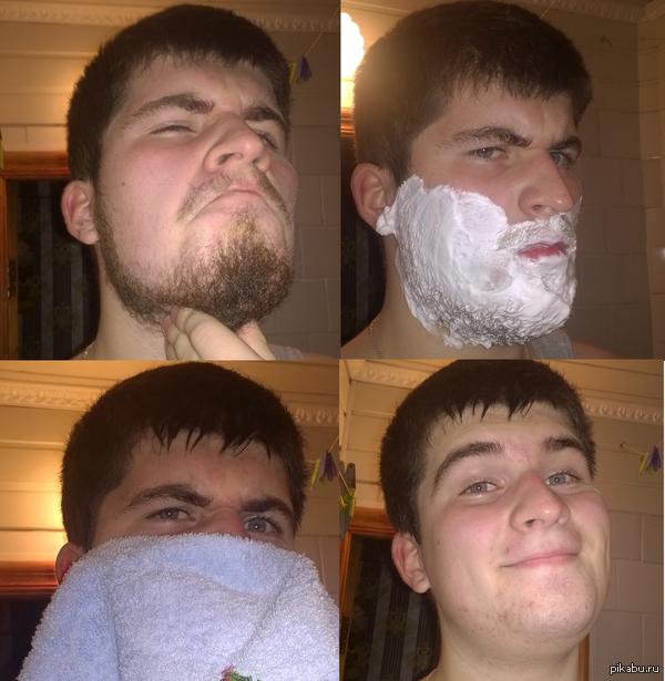 Помню когда то была такая фишка) Давно хотел сделать, но бородёнка росла медленно)
