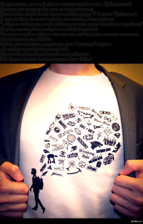 Примерно чуть меньше года назад, после моих постов о выбранном мной изображении на футболку, ко мне добавился подписчик.