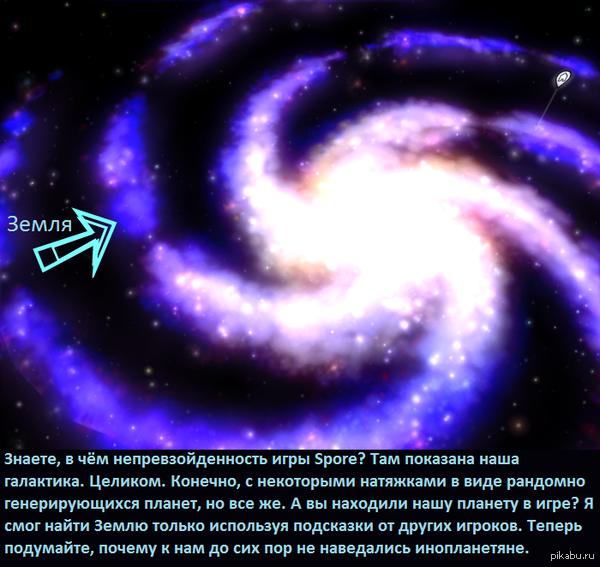 Встреча с инопланетянами Решил недавно вспомнить игру Spore и в процессе прохождения космоса я понял, почему нам кажется, что мы одиноки во вселенной.