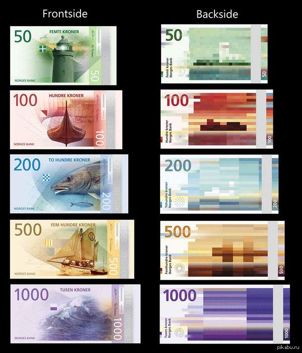 Дизайн норвежских купюр Вариант-победитель конкурса на оформление денежных купюр в Норвегии. Это не значит, что кроны будут именно такими, но все равно - красиво. Сперто из интернета