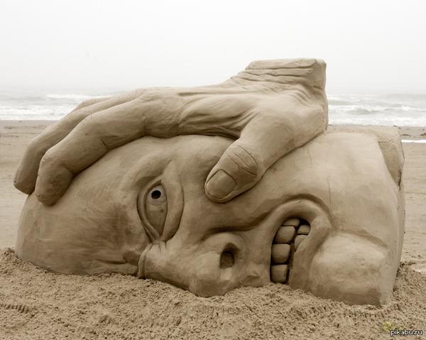 Фигура из песка Face-sand