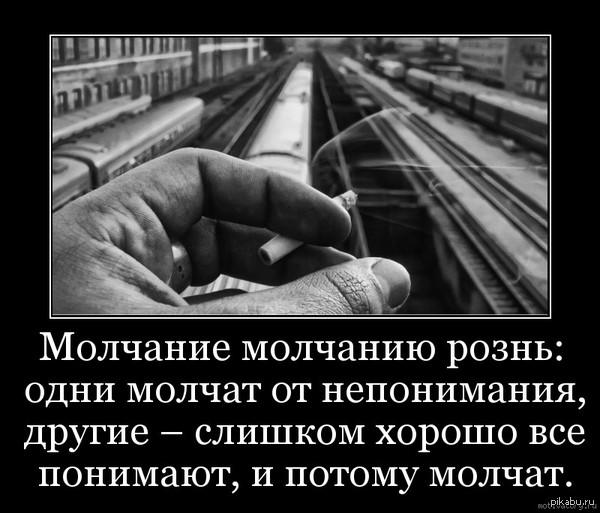 """Молчание - не золото Молчание рождает непонимание. Непонимание рождает зло. Почему ты молчишь? Только не говори, что не можешь придумать ответ. Скажи своё """"мяу""""!))"""
