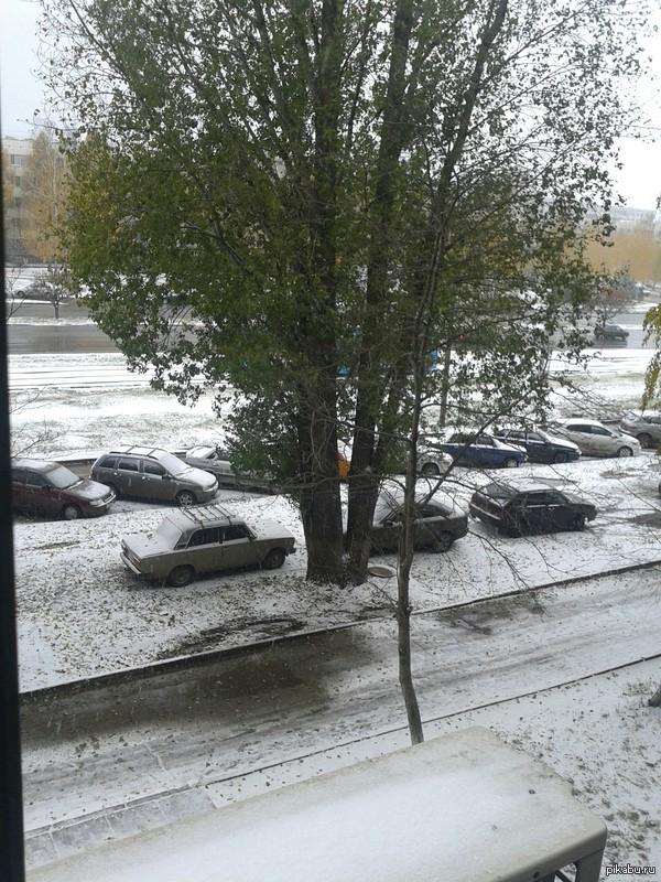 Как будто фотошоп Первый снег в набережных челнах