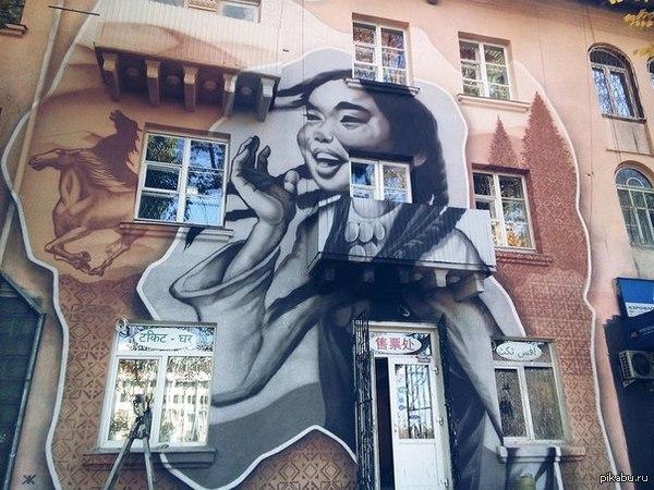 Вот такой вот Арт замутили в Бишкеке