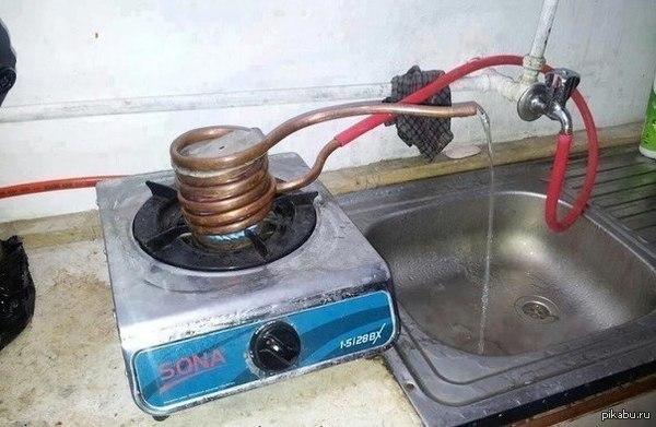 Что делать если отключили горячую воду