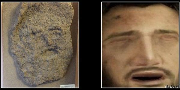 Были пару лет назад на выставке, увидели там предка Дрэйкфейса