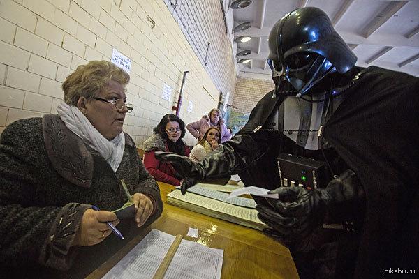 Необычное фото с выборов на Украине А выборы то признали состоявшимися