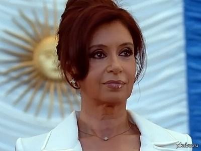 Кристина Фернандес де Киршнер Эта женщина - президент Аргентины.