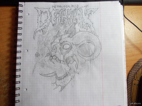 Привет. Рисунок Dethklok Обложка альбома