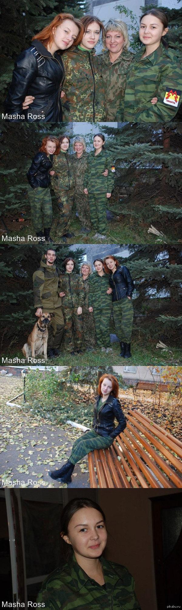 """Фото от Дубового. А это замечательные девушки-ополченки из подразделения Моторолы.  Вот такие &quot;террористы&quot; В дополнение к <a href=""""http://pikabu.ru/story/ryizhik_iz_podrazdeleniya_motorolyi_vot_takie_krasavitsyi_v_opolchenii_2777965"""">http://pikabu.ru/story/_2777965</a>"""
