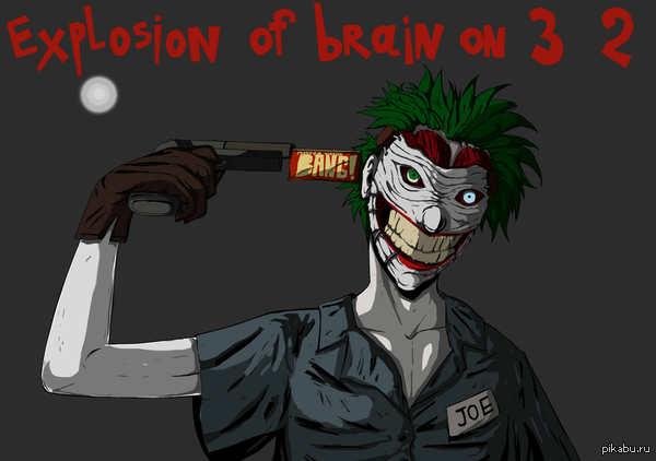 И вот за долгое время нарисовал хоть, что то хорошее. Джокер!   -Explosion of brain on 3 2 1!! (по сравнению с др рисунками до этого)