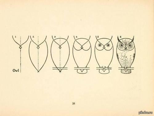 Как легко нарисовать сову Инструкция не из разряда: 1) Нарисуйте круг 2) Дорисуйте оставшиеся части единорога