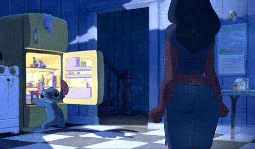 Главное - невозмутимость ;) Во тьме ночной, при свете дня...холодильник в диету манит тебя >.<