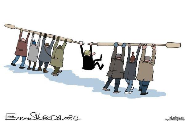Карикатура от Ёлкина. Свежая карикатура от Ёлкина  (пашу как краб не галерах)